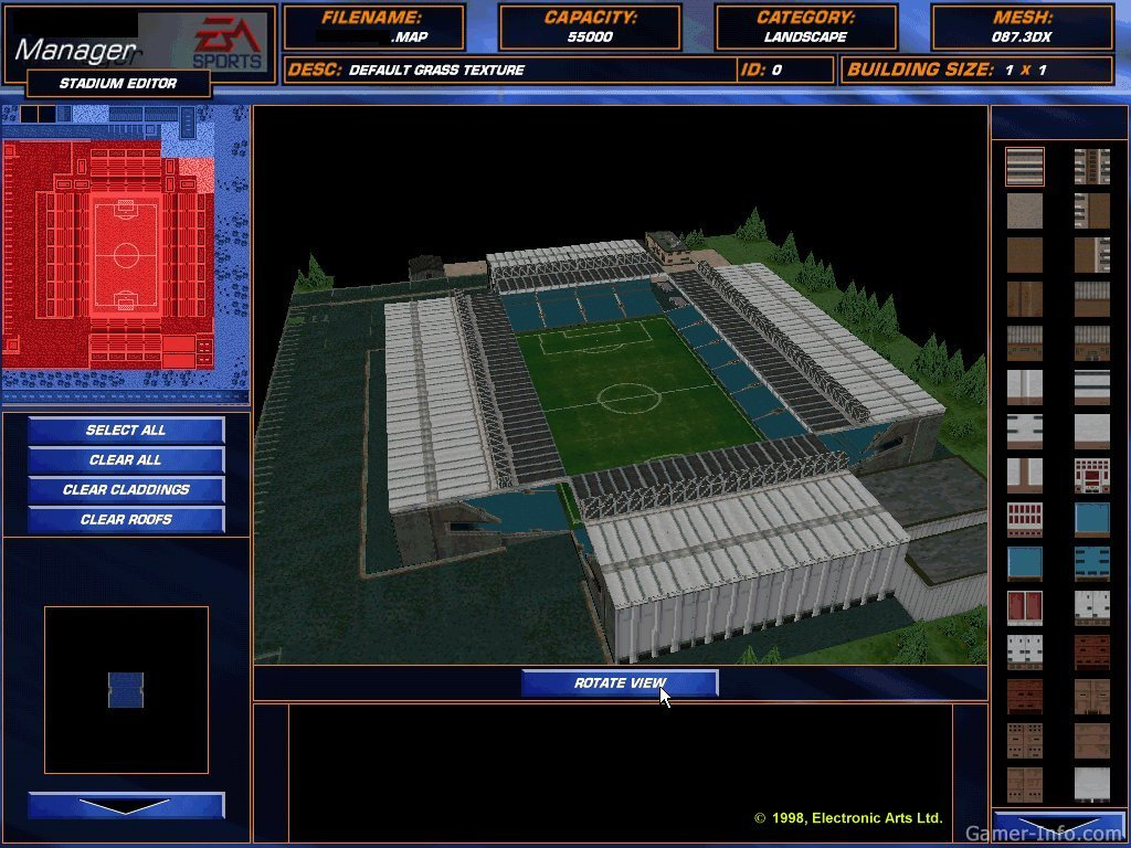 The f a premier league football manager 99 1998 video game for Epl table 1998 99