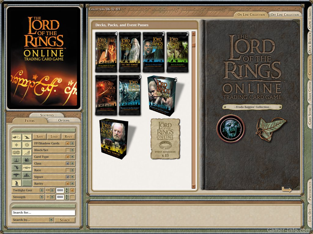 The Lord of the Rings Online Trading Card Game (2003 video game)