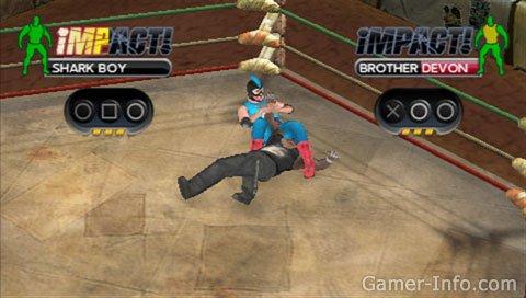 Tna Impact Cross The Line Psp 2010 Video Game